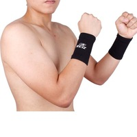 Free Shipping New Black Pair 2pcs Knitting WRIST Protection Brace Wrap Guard Sports Support  [TY154]