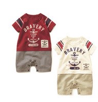 baby carters boy Bellne two color stitching cotton boxer Romper Romper climbing equipment