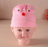 New Korean version of the cute cat face tail warm dome cap cute baby bonnet cotton cap warm hat for men and women