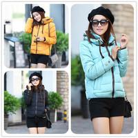 Winter women's 2014 short design down wadded jacket double layer collar slim wadded jacket down parka