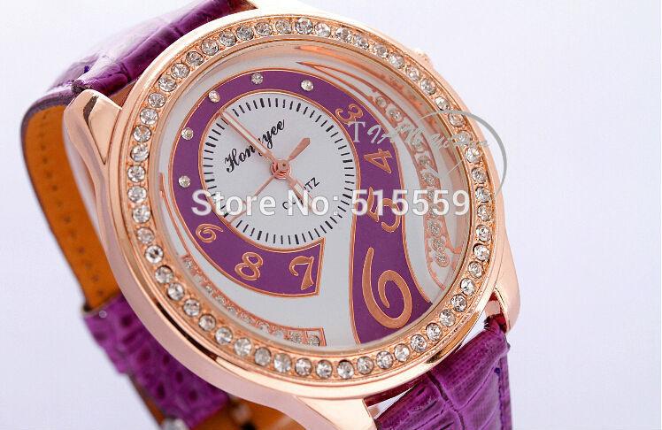 100pcs/lot Top Quality Fashion Women's Rhinstone Diamond Question Mark Quartz Watch Lady's Dress Watch Christmas Promotion(China (Mainland))