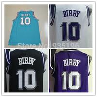 Sacramento 10# Mike Bibby Jersey New Material Rev 30 Embroidery Vancouver Basketball jerseys size S-XXL Wholesale Free Shipping
