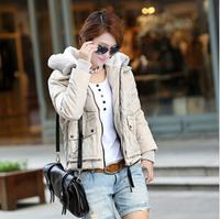 2014 plus size short design thickening wadded jacket outerwear slim women's down jacket down parkas 2014