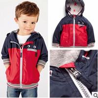 2014 new autunm children's for outdoor sports coat jacket boy hooded windbreaker Jackets
