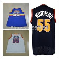 55# Dikembe Mutombo Jersey New Material Rev 30 Embroidery Denver Basketball jerseys size S-XXL Retail/Wholesale Free Shipping
