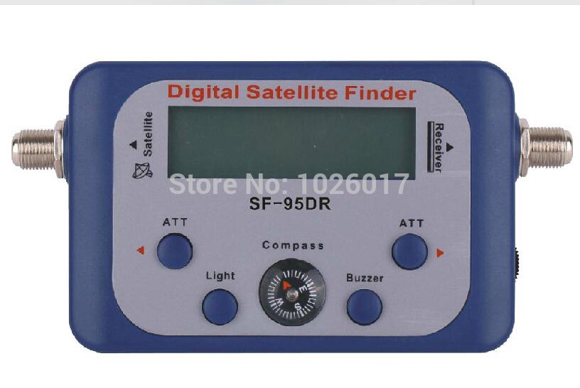 Wholesale 10PCS/LOT SF-95DR Satellite Signal Finder Tool Find Meter LCD DirecTV DISH Precise satellite signal analyzer(China (Mainland))