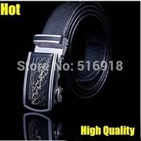 Hot!!!Men's Cowskin Leather Belt Designers Brand 100% Real Leather Belt High Quality Waist Belt for Business Men Free Shipping