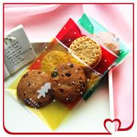 90pcs/lot Christmas series 3colors Christmas tree cookie plastic bags,10x10cm,cupcake packaging bag free shipping