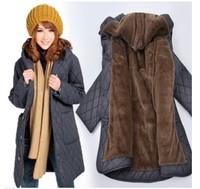 Loose plus size coat clothing women's fertilizer coats winter fashion 2014 long jacket women outerwear 6XL medium-long xxxxxxl