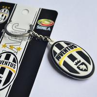 Free shipping high quality juventus PVC keychains uefa champions league souvenir  factory direct wholesale
