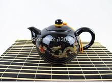 Porcelain tea set pot made in China ceramic tea pot with infuser holes and pot string pigmented craft tea pot dragon painted