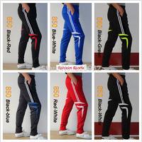 Free Shipping 2014 New Fashion L-4XL Football Pants Legs Soccer Training Designer Pants Sports Trousers Brand Men's Active Pants