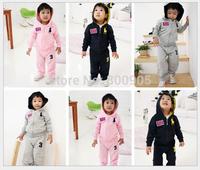 retail children's  spring autumn clothing  kids clothes girls boys hoodie jacket zipper hoodies + trousers  pants  2 pces set