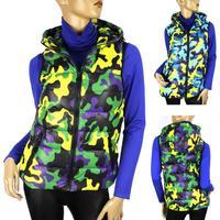 Women's autumn- winter vest new hooded cotton vest fashion Camouflage female models down vest waistcoat vest Free Shipping 1506
