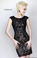 Free Shipping Fashion Sheath Cap Sleeves Lace Evening Dress Short with Beads/Prom Gowns