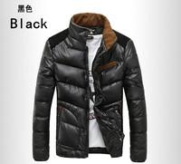 Men New Black Cotton Down Jackets Winter Thick Parkas Coat Male Warm Stand Collar Coat  Blue Fashion Outerwear Plus Size XXL,3XL