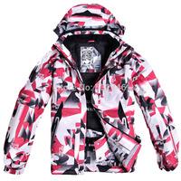 Fashion Men's skiing ski sports jackets thickness warm winter men's breathable waterproof outdoor men's ski suit jacket