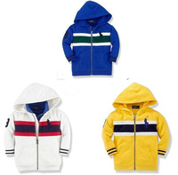 retail po*o children/kids autumn clothing  boys jacket jackets, boy outerwear colorful and stripped hoodie hoodies