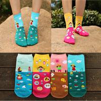 Crazsox autumn and winter new style cartoon womens boot socks good quality cute long socks women