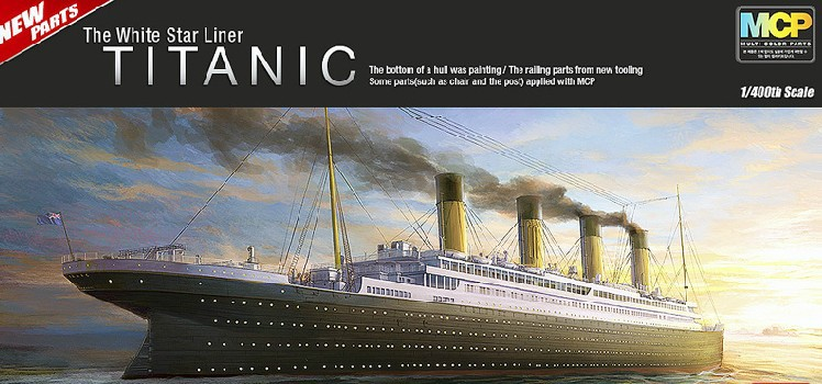 ACADEMY 1/400 The Titanic ship model luxury cruise ship Assembly Model kits Modle building Trumpeter scale model(China (Mainland))