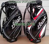 Golf bag New PU Ti Golf Cart Bag black color Golf Staff Bag golf equipment EMS Free Shipping