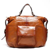 New Luxury Brand High Quality Vintage Fashion 100% Top Genuine Leather Cowhide Women OL Handbag Shoulder Messenger Bag Bags 7106