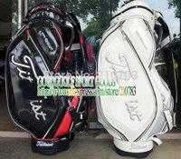 2014 Golf bag New PU Ti Golf Cart Bag black or White color Golf Staff Bag Wholesale Bags EMS Free Shipping