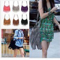 Details about Fashion Celebrity Tassel Suede Fringe Shoulder Messenger Handbag Cross Body Bag