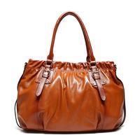 New Luxury Brand High Quality Vintage Fashion 100% Top Genuine Leather Cowhide Women OL Handbag Shoulder Messenger Bag Bags 8026