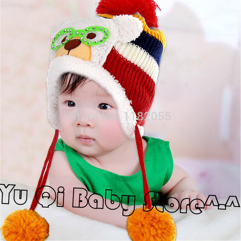 Toddlers Warm Cap Hat Beanie Cool Baby Boy Girl Kids Infant Winter Pilot Aviator Cap Free Drop Shipping(China (Mainland))