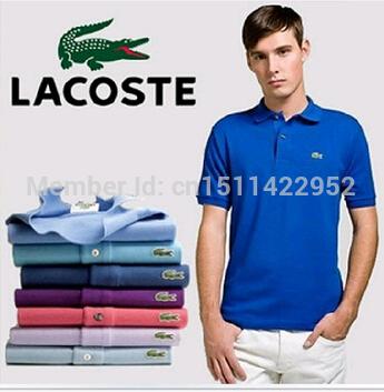Novas Camisas 2014 Marca Camisa la polo t homens costlying manga curta t-shirts aptidão Dudalina camisa casual frete grátis(China (Mainland))