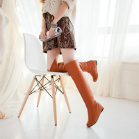 large size ladies fashion boots T1BLG-407 2015 Spring new arrived sexy PU wedges charm tassel over the knee women boots