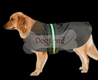 1 PCS/LOT free shipping Pet Dog Cat Raincoat with LED Clothes Puppy Glisten Bar Hoody Waterproof nylon Jackets Dogs clothing