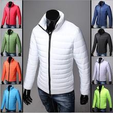 2014 New Winter jacket Man's Outerwear Hooded Down Jacket Men Winter Warm Down Coat Men Light White Duck Down free ship