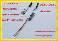 DC3V-12V Mini Transmitter Module DC3.7V 4.5V 5V 6V 9V Micro Remote Control Transmitter + DC3V-DC5V Relay Receiver Remote Switch