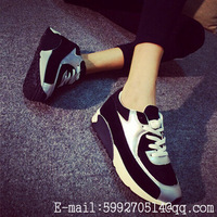AIR Black Silver Cushion Women Casual Sport Shoes White Pink BALANCE Leopard Running Shoes Female Elevator Sneakers Classic HOT