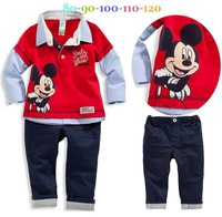 Retail 2014 NEW arrive children handsome suit 2 pcs set children cloth children clothing set children autumn set