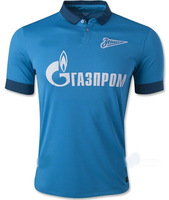 A+++ Thailand FC Zenit Saint Petersburg Home player version  New Blouse 14 15 Thai 2014 2015 Soccer Jersey Futbol Shirt