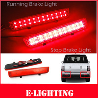 2X Red Lens LED Rear Bumper Reflector Tail Brake Stop Light for Range Rover Freelander LR2