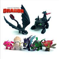 7Pcs HOW TO TRAIN YOUR DRAGON 2 Figure Set Mini Figure Kids Toys Dolls 5-9cm
