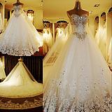 Оптовая продажа, 2012 последняя мода красивая сексуальная хрустальные бусины церковные свадебные платья бесплатная доставка