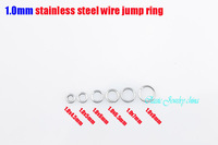 1.0x4.5mm-1.0x8mm jump ring stainless steel split rings necklace accessories chains DIY parts 1000pcs per bag