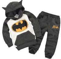 batman set kids boys clothing set children hoodies pants thicken winter warm clothes girls clothing sets 2014 autumn new arrival