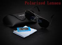 2014 New Fashion Men's Polarized coating Sunglasses men Driving Aviator Mirrors Eyewear Sun Glasses With Case Box