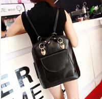 2014 new Korean wave backpack pu leather shoulder bag ladies travel shoulder bag handbags college students wind