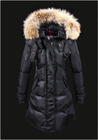 Women's fashion down jacket and long sections Slim female classic thick down jacket brand
