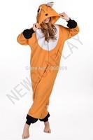 Curry fox Cosplay Costumes Pajamas Animal Onesies Pyjamas Adult Cartoon Party Dress