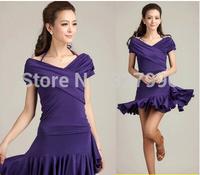 Female adult Latin dance clothes spring jumpsuit one-piece dress costume dance clothes