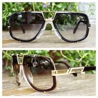 New Fashion Sunglasses Cazal 656 Vintage Design oculos de sol masculino Acetate Frame Sun Glasses Germany Top Brand