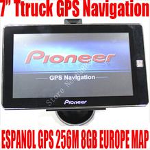 7 inch HD Car TRUCK GPS Navigator 800MHZ FM/8GB/DDR3 256M 2014 Maps for TOMTOM Russia/Belarus/Kazakhstan Europe/USA+Canada TRUCK(China (Mainland))